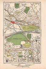 1933 Mapa De Londres-harlesden, Kensal aumento, Kensal Green, East Abad, ajenjo Scrubs, WH