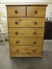 CHASE RANGE 4+2 DRAWER CHEST SOLID PINE HAND MADE BESPOKE SIZES COLOURS