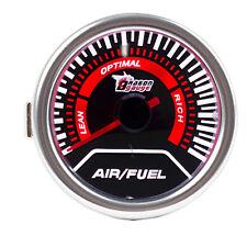 "12V Car Universal Pointer Smoke Tint Len 2"" 52mm Air/Fuel Ratio Gauge Meter Dial"