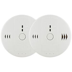 2 Stück Kohlenmonoxid- und Rauchmelder-Sensor Warnung CO-Rauchmelder Kabellos