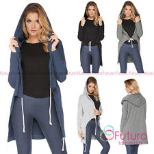 Womens Hooded Asymmetric Blazer With Pockets Parka Cape Jacket Size 8-12 FT2061