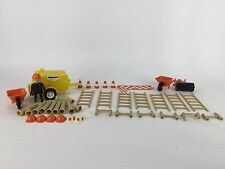 Playmobil Construction Site Deluxe Set Wheelbarrow Ladder Pipe Trailer Cone Hat