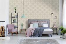 Boutique Taupe Art Deco Metallic Geometric Wallpaper