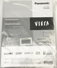NEW OEM PANASONIC VIERA HDTV HDMI TELEVISION TV USER MANUAL TC-L42U25 LCD GUIDE