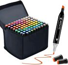24-168 Set Marker Pen Alcohol Graphic Art Twin Tip Markers For Student Artist