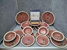 More details for denby damask dinner plates, side plates & bowls 4 person setting.