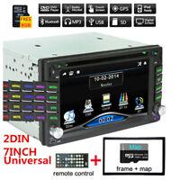 "6.2"" 2Din HD Car Stereo DVD CD Player FM Bluetooth Radio iPod GPS Navigation Kit"