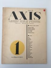 AXIS N°1 1935 Contemporary Abstract Painting & Sculpture Arp Calder Kandinsky
