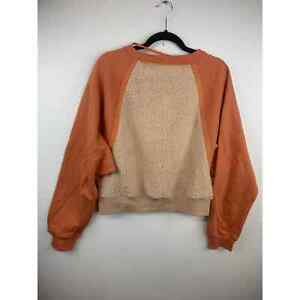 Free People Color Block Coral Sweater