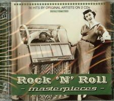 ROCK 'N ROLL MASTERPIECES - 2 CD SET - 36 SONGS - NEW - FREE SHIPPING !!!