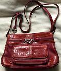 BRIGHTON RED BEATRICE Leather ORGANIZER Wallet CROSSBODY Shoulder Messenger BAG