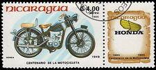 "NICARAGUA 1423 (Mi2572) - Motorcycle Centenary ""Honda, 1949"" (pf53342)"