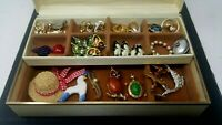 Vintage Assorted Avon Pin Collection Thirty Five NOS Complete With Case 35 Case