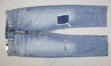 NEW Mens Levis 505 Regular Cropped Distressed Blue Denim Jeans NWT 32x28