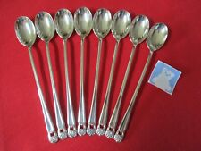 (8) 1847 Rogers Silverplate Beverage Spoons, 1941 Eternally Yours  #I7