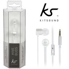 Kitsound Hive In-Ear Earphones Super Bass Microphone Loud Sound Iphone Samsung