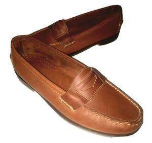Cole Haan New Men's Pinch Penny Loafer Brown Slip on Oak Wearher Sole 6.5N B2504