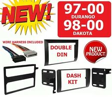 97-00 DURANGO 98-00 DAKOTA Car Radio Stereo Installation Double Din Dash Kit