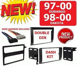 97-00 DURANGO 98-00 DAKOTA Car Radio Stereo Installation Double Din Dash Kit