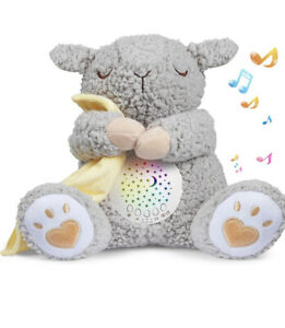 BEREST Rechargeable Dreamy Sheep, Baby Cry Sensor Mom's Heartbeat Lullabies &