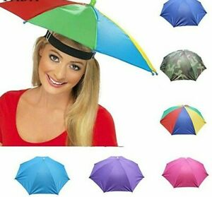 Folding Umbrella Hat Windproof Sun Rain Anti UV Portable Lightweight For Travel
