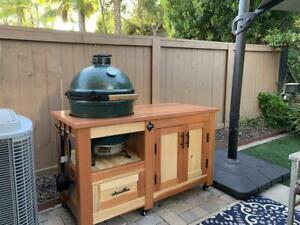 Custom Grill Table for Big Green Egg, Kamado Joe/Grill Cart plans (PDF digital)
