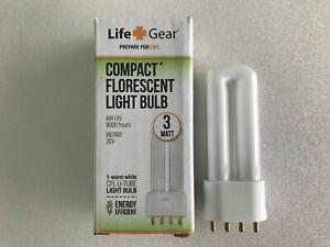 Compact Lantern 3w Fluorescent flash light bulb U bend fits 4 pin TL07-12