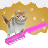 Pet Hair Trimmer Comb Cut Dog Cat With 4 Blades Grooming Razor~Thinning J0P8