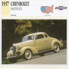 1937 CHEVROLET MASTER SIX Classic Car Photograph / Information Maxi Card