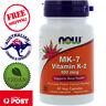 Now Foods MK-7 Vitamin K-2 100 mcg 60 Vegan Capsules, Non-GMO