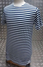 Russian / Soviet / USSR / CCCP Style Stripy Sailors Telnyashka Top Short Sleeve