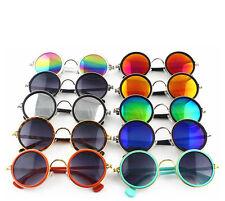 Unisex Women Mens Round Vintage Retro Style Classical Metal Frames Sunglasses