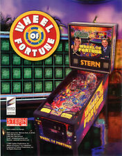 2007 STERN WHEEL OF FORTUNE PINBALL FLYER MINT