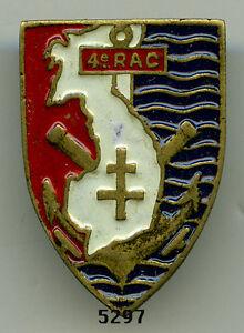 Insigne artillerie coloniale , 4  RAC.  (  34x24 , type Augis )