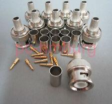 20 BNC Crimp Stecker Kombikabel 0,8 3,7 Videostecker Kabelstecker Koaxstecker