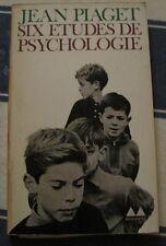 Six etudes de Psychologie par Jean Piaget format poche