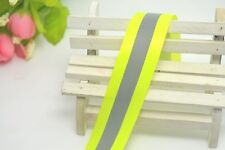 "Safty Reflective Tape 2"" Sew On Fluoresce Yellow Green fabric Trim Vest 10"""