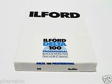 "25 x SHEETS ILFORD DELTA 100 B&W NEG 4"" x  5"" Film--ULTRA FRESH--expiry: 02/2020"