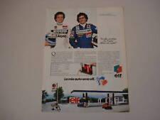 advertising Pubblicità 1982 ELF/MAURO BALDI/ALAIN PROST