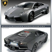 2012 LAMBORGHINI REVENTON FLAT BLACK 1:24 DIECAST MODEL CAR BY ACADEMY 15117