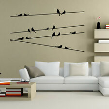 Black Cute Removable Tree Branch Bird Wall Stickers Vinyl Home Decoration Decals