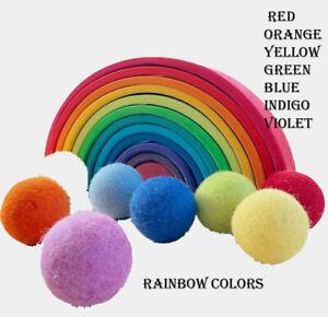 1000 Bright Rainbow Pom POM FELT BALLS Nursery Christmas decoration garlands