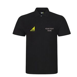 Embroidered Polo shirt plumber with gas safe logo / company name Personalised