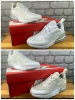 NIKE AIR 270 WHITE TRAINERS VARIOUS SIZES CHILDRENS GIRLS BOYS T