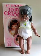 """New Vintage Ideal 24"""" Lifesize Baby Crissy African American Doll Her Hair Grows"""