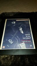 Neil Young Rockin' In The Free World Rare Original Radio Promo Poster Ad Framed!
