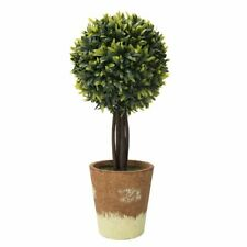 """Artificial Boxwood Topiary Outdoor Plant Tree Home Decor Grass Ball Green 16.5"""""""