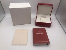 Genuine omega watch box case red leather In good condition 1019002