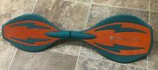 "Razor RipStik Brights Caster Board Teal Orange Skateboard 27"" long"