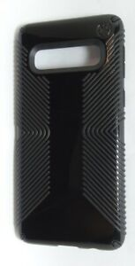 Speck - Presidio Glossy Grip Case for Samsung Galaxy S10 - Black